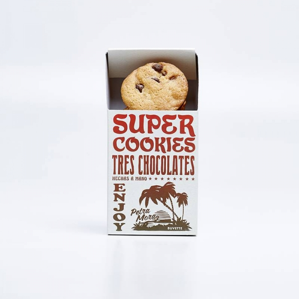 Super cookies tres chocolates