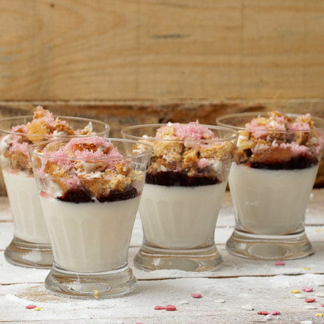 vasitos de yogur con supercookies